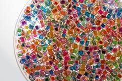 2 glass pärlor royaltyfria bilder