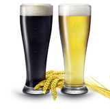 2 glasses of beer Royalty Free Stock Photography