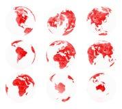 2 globe ziemski rzut Zdjęcia Stock