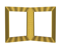 2 Gold Beveled Picture Frames. Illustration of 2 Gold Beveled Picture Frames. Insert your own pictures Royalty Free Stock Photo