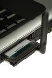 2 gprs края карточки изолировали ПК Стоковая Фотография RF