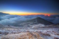 2 gór Sikkim wschód słońca Zdjęcie Stock