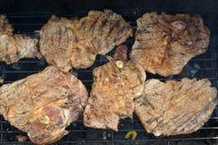 2 grillów mięso Zdjęcie Stock