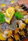 2 grilla mięso Obraz Royalty Free