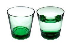 2 groene glazen stock fotografie