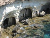 2 grottor Arkivbilder