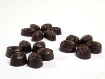 2 groupes trois de chocolats Image libre de droits