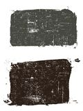 2 Grunged Squares 2. Grunge elements - 2 Grunged Squares - Highly Detailed vector grunge elements royalty free illustration