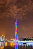 2 Guangzhou noc sceny wierza zdjęcia royalty free