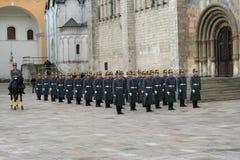 2 guard kremlin moscow Arkivfoto