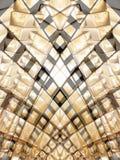 2 guld- rektanglar Fotografering för Bildbyråer