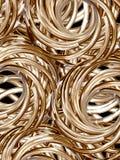 2 guld- rullar Fotografering för Bildbyråer