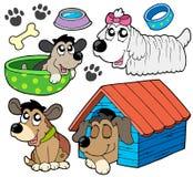 2 gulliga hundar för samling royaltyfri illustrationer