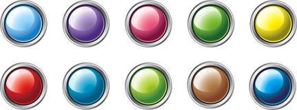 2 guzika colour różny Zdjęcia Royalty Free