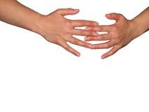 2 händer Royaltyfri Fotografi
