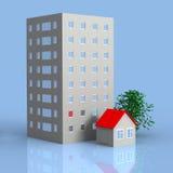 2 Häuser vektor abbildung