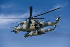 2 hélicoptère du mil mi-24 Image libre de droits