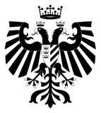 2 hövdade heraldiskt för dubbel örn Arkivbilder
