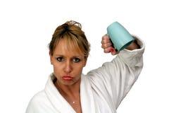 2 härliga blonda tomma kaffekopp Fotografering för Bildbyråer