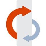 2 half-round kleverige pijlen. stock illustratie