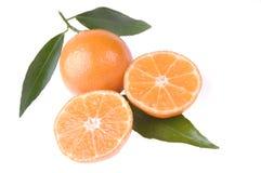 2 halfs одного clementine Стоковые Изображения