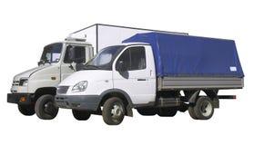 2 halv lastbil två Arkivfoto
