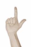 2 hand nummer två Arkivfoton