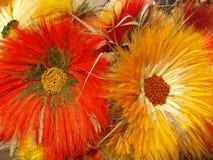 2 handgjorda blommor Arkivbilder