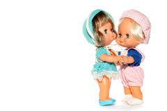 2 happy dolls dancing #4 Royalty Free Stock Image