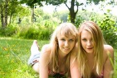 2 happy girls Royalty Free Stock Photo