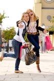 2 happy sisters Royalty Free Stock Photos