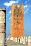 2 hassan morocco rabat torn Arkivfoton