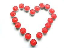 2 heart tealight Στοκ Εικόνες