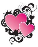 2 Hearts Stock Photography
