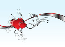 2 Hearts And Valentin`s Day Royalty Free Stock Photography