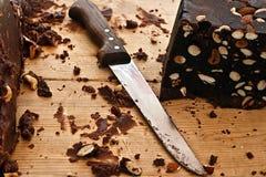 2 hemlagade chokladhasselnötter Royaltyfria Foton