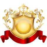 2 heraldisk sköld v Royaltyfri Bild