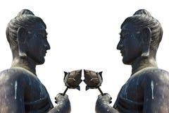 2 het standbeeld van Lord Boedha Royalty-vrije Stock Afbeeldingen