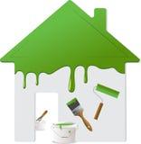 2 home målningsreparationshjälpmedel Arkivfoto