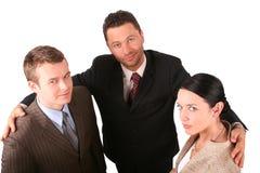 2 hommes 1 équipe d'affaires de femme Photo libre de droits