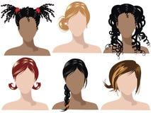 2 hårstilar Arkivfoton