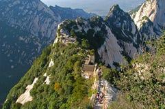 2 huashan山shangtianti 图库摄影