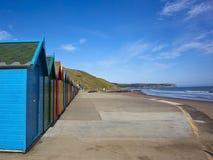 2 huttes colorées de plage Images stock