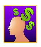 2 idéer som gör pengarsilhouetten Royaltyfri Bild