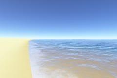 2 idealnie na plaży Fotografia Royalty Free