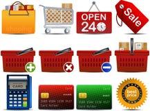 2 ikon część shoping wektor Zdjęcie Stock