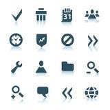 2 ikon interneta szara część Obraz Royalty Free