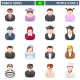 2 ikon ludzie robico serii Zdjęcia Royalty Free