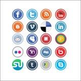 2 ikon medialny socjalny wektor Zdjęcie Royalty Free