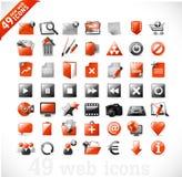 2 ikon mutimedia nowa czerwona sieć Zdjęcie Royalty Free